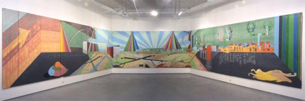 Thustra & Jane-Good Luck, 7'x49-1.5' (install view)